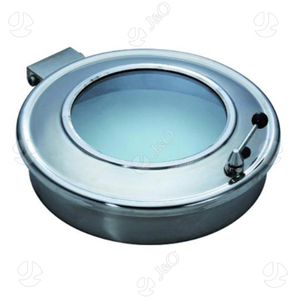 Sanitary Stainless Steel Oval Manways With Sight Glass