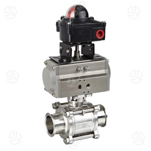 Pneumatic Sanitary Stainless Steel Clamped 3PCS Ball Valve