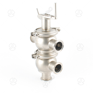 Stainless Steel Sanitary T&L Type Manual Clamp Divert Valve